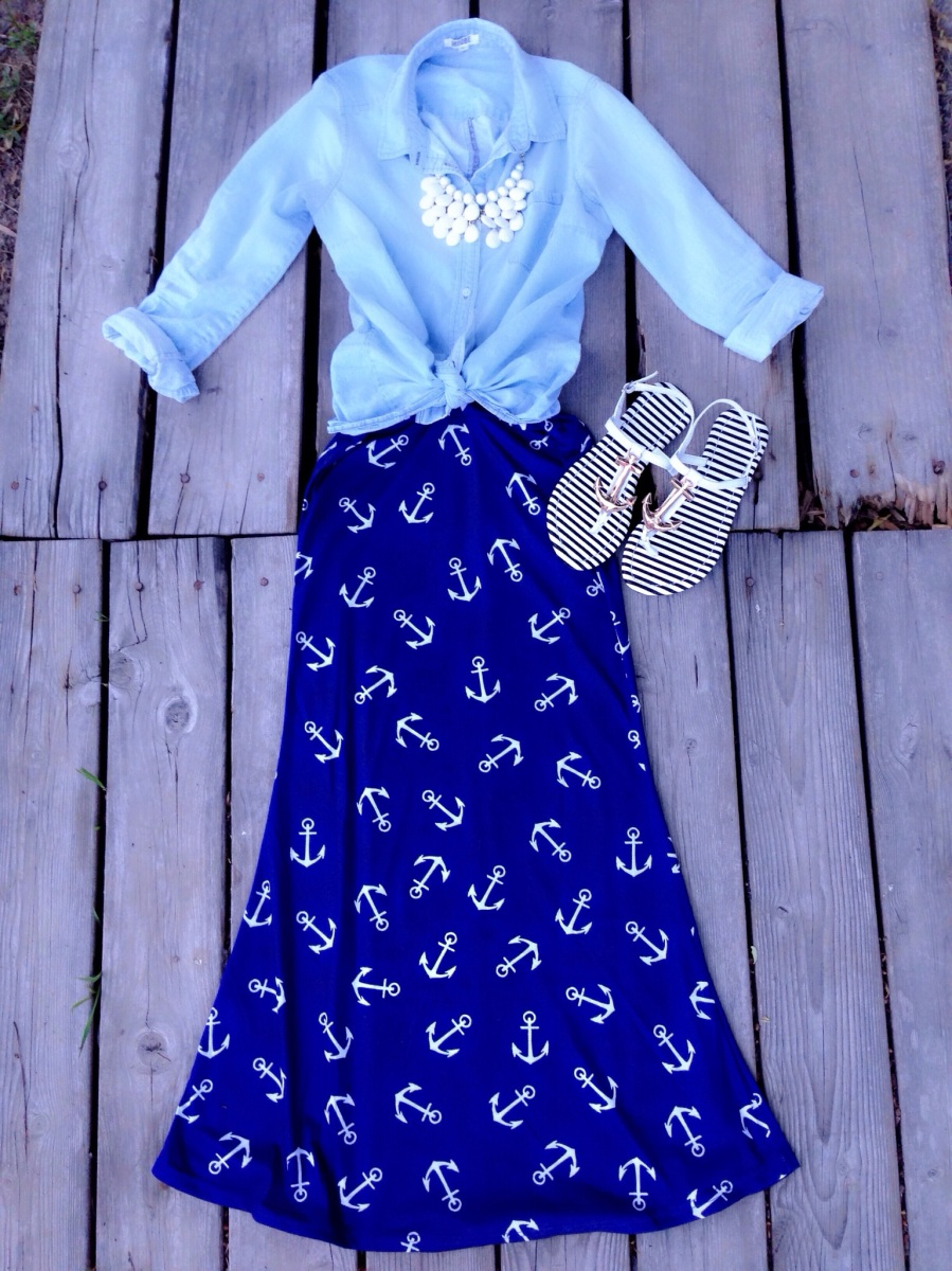 modest nautical summer outfit  a modest fashion  faith blog