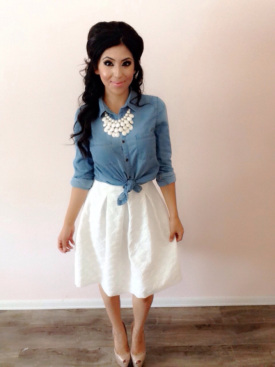 How To: Styling a White Skirt! Modest Summer Outfits! Featuring ...
