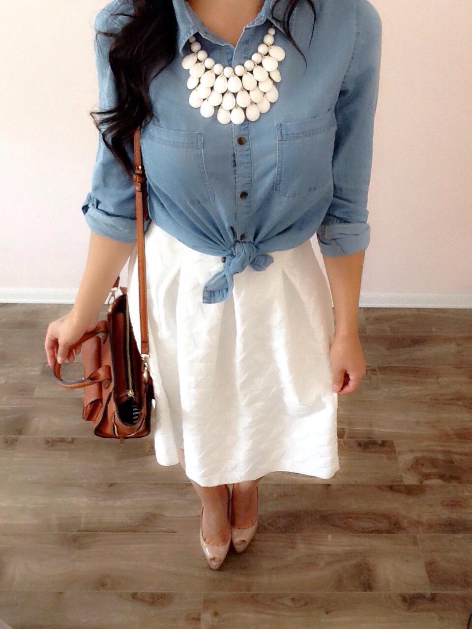 How To Styling a White Skirt! Modest Summer Outfits! Featuring Debbieu2019s Closet! | A Modest ...