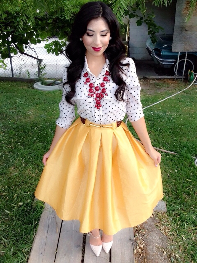 Modest Fall Fashion! Polka Dots Maroon and Midi Skirt Outfit!ud83cudf41ud83cudf42ud83cudf43 | A Modest Fashion u0026 Faith Blog